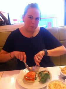 Lozzie enjoyed her gargantuan meal, evidently.