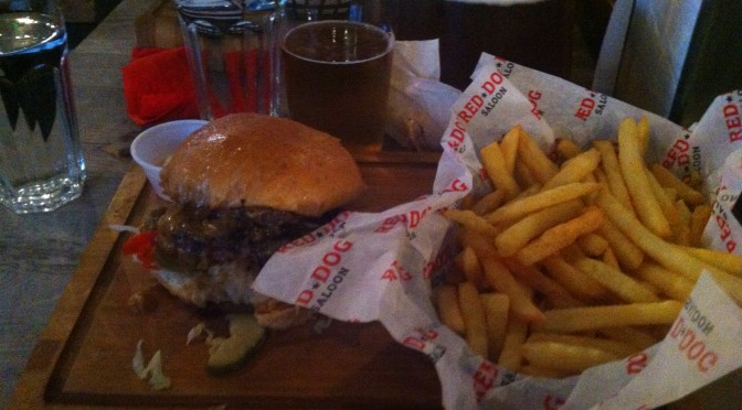 Previous AWESOME meal at Red Dog Saloon