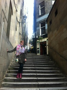 Evidence of me wearing voluminous scarves, and also being really quite tall...