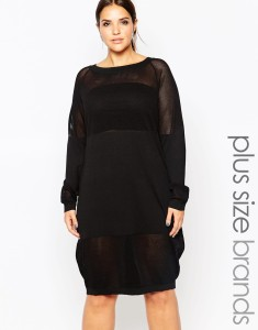 Carmakoma Fine Gauge Knitted Dress with Keyhole Back - £109.00 at ASOS