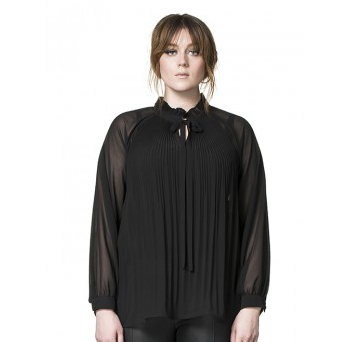 Skippy Pleated shirt cropped
